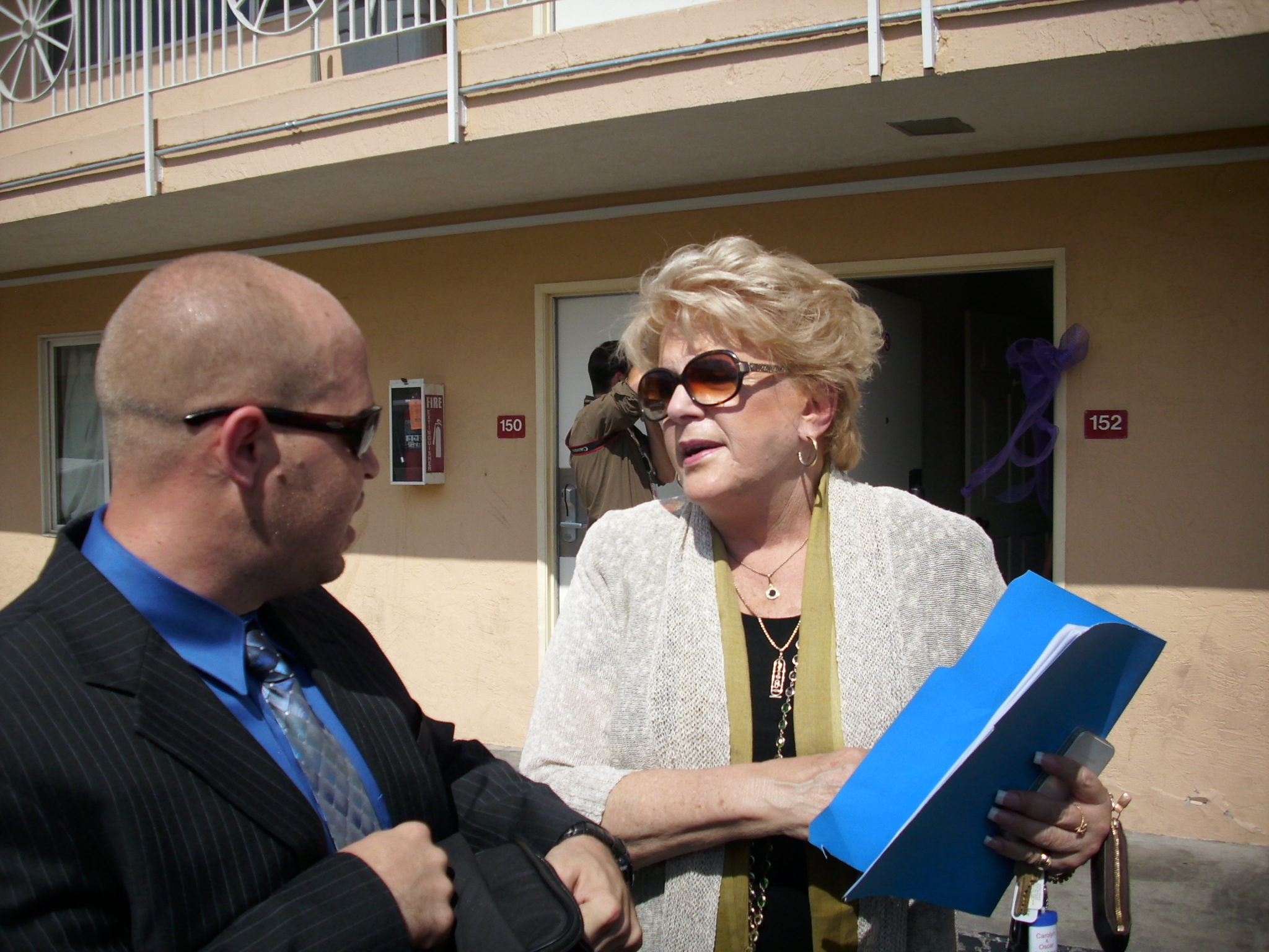 Mayor Carolyn Goodman and Zachary Delbex of Repurpose America
